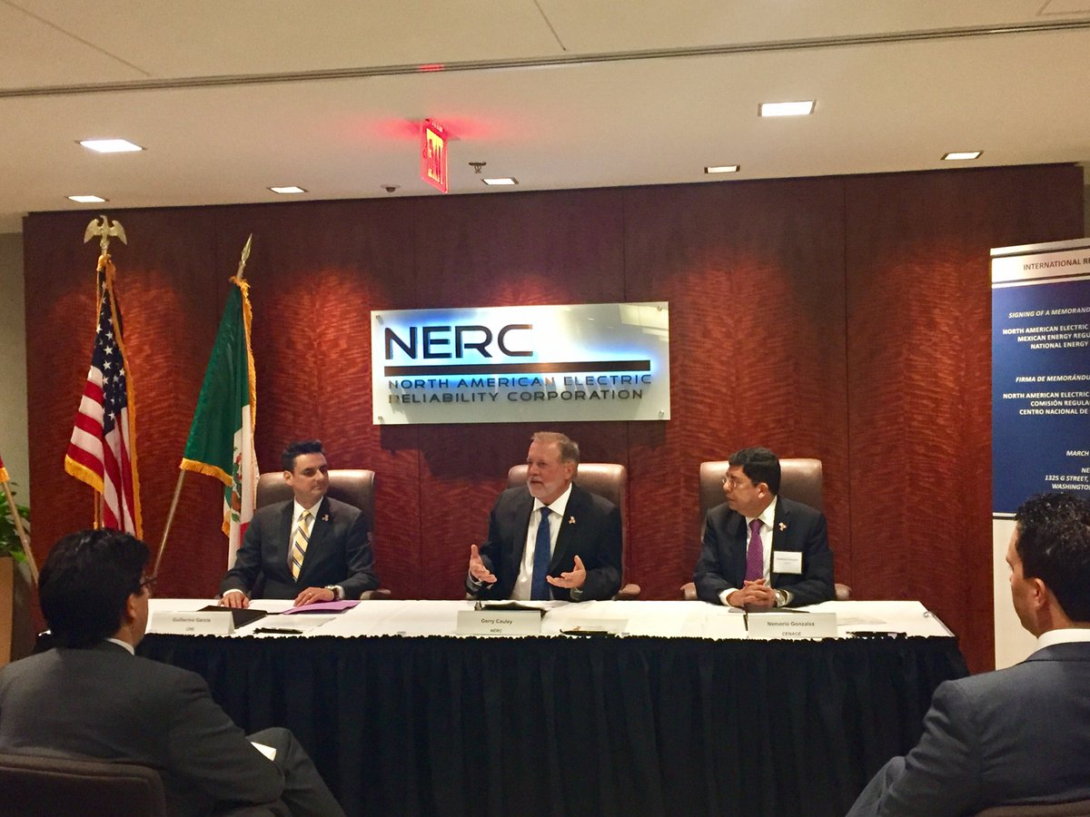 Nerc On Twitter Nerc Cremexico And Cenacemexico Sign Mou To