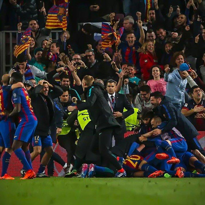 Parabéns @FCBarcelona. Essa vitória mostrou a força do grupo, diretores e da torcida! Parabéns tbm ao @PSG_inside pelo lindo espetáculo.