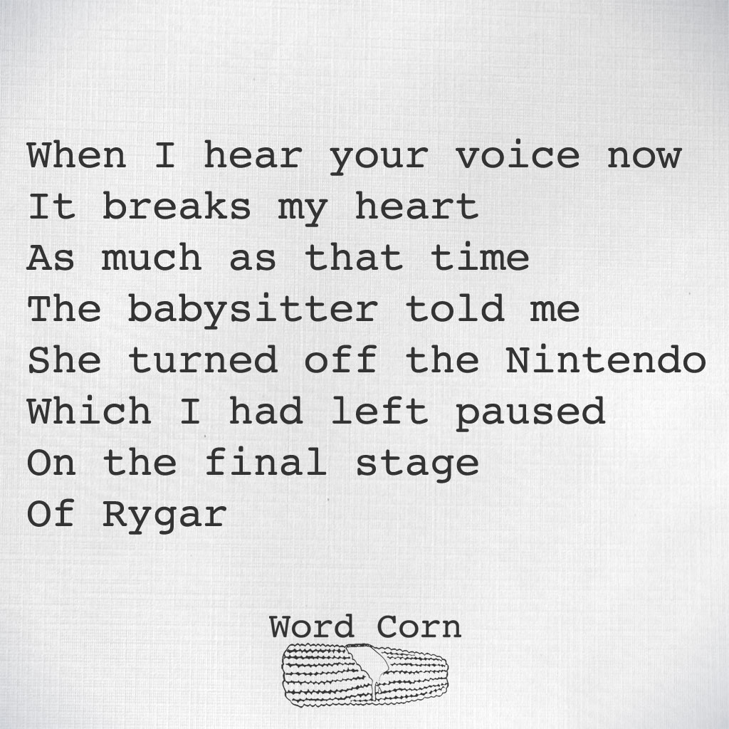Word Corn on Twitter:
