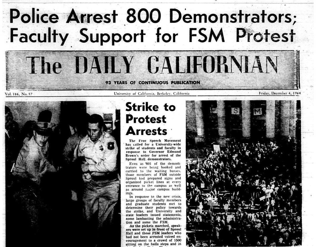 "Daily Cal Archives en Twitter: ""About 280 women were arrested during this  Free Speech Movement sit-in on Dec. 3, 1964 https://t.co/G4iDvG7w7I  #internationalwomensday… https://t.co/AlZLFhsGl9"""