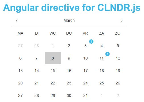 Angular directive for CLNDR.js