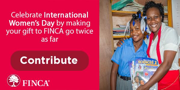 Celebrate #InternationalWomensDay by making your gift to FINCA go twice as far: https://t.co/6Z0eaoEhfQ #IWD2017 https://t.co/3p6ZTjaM56