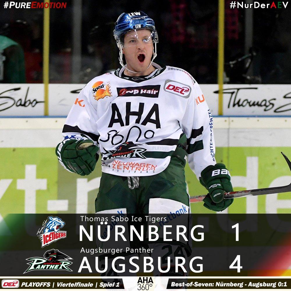 Die Augsburger Panther gewinnen mit 4:1 bei den Thomas Sabo @Ice_Tigers #NurDerAEV https://t.co/Thcut6B4wl