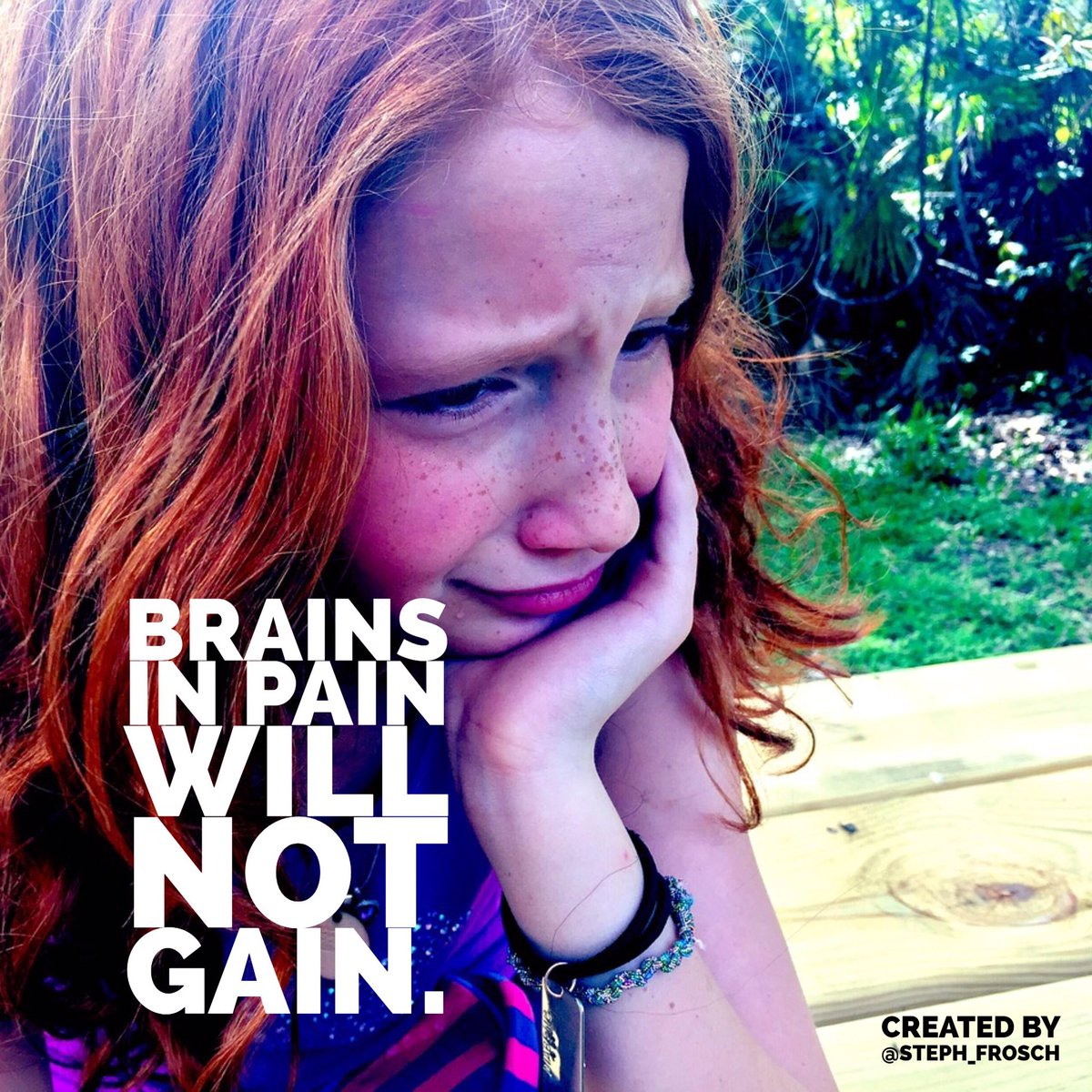 Brains In Pain Cannot Learn >> Steph Frosch On Twitter Excellent Read Brains In Pain Cannot Learn