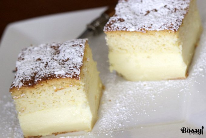 Vanilla Magic Custard Cake Recipe – The Bossy Kitchen