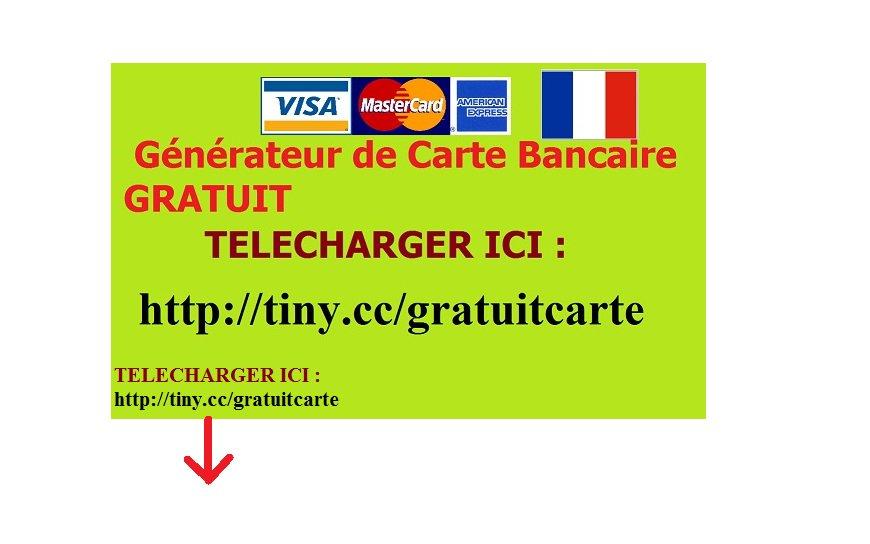generateur de carte bancaire sans verification FR} Carte Bancaire Gratuite