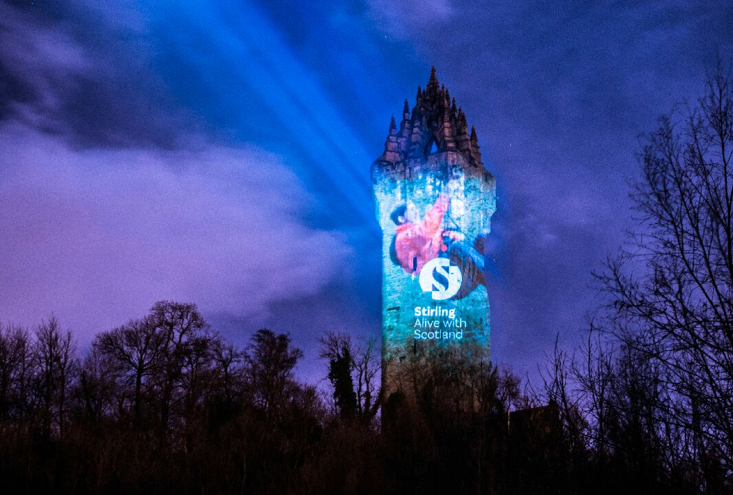 Amazing shots of the Wallace Monument tonight #StirlingBrandLaunch https://t.co/ls4Hq2J2H6