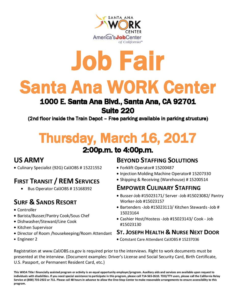 Santaanaworkcenter On Twitter The Santa Ana Work Center Invites