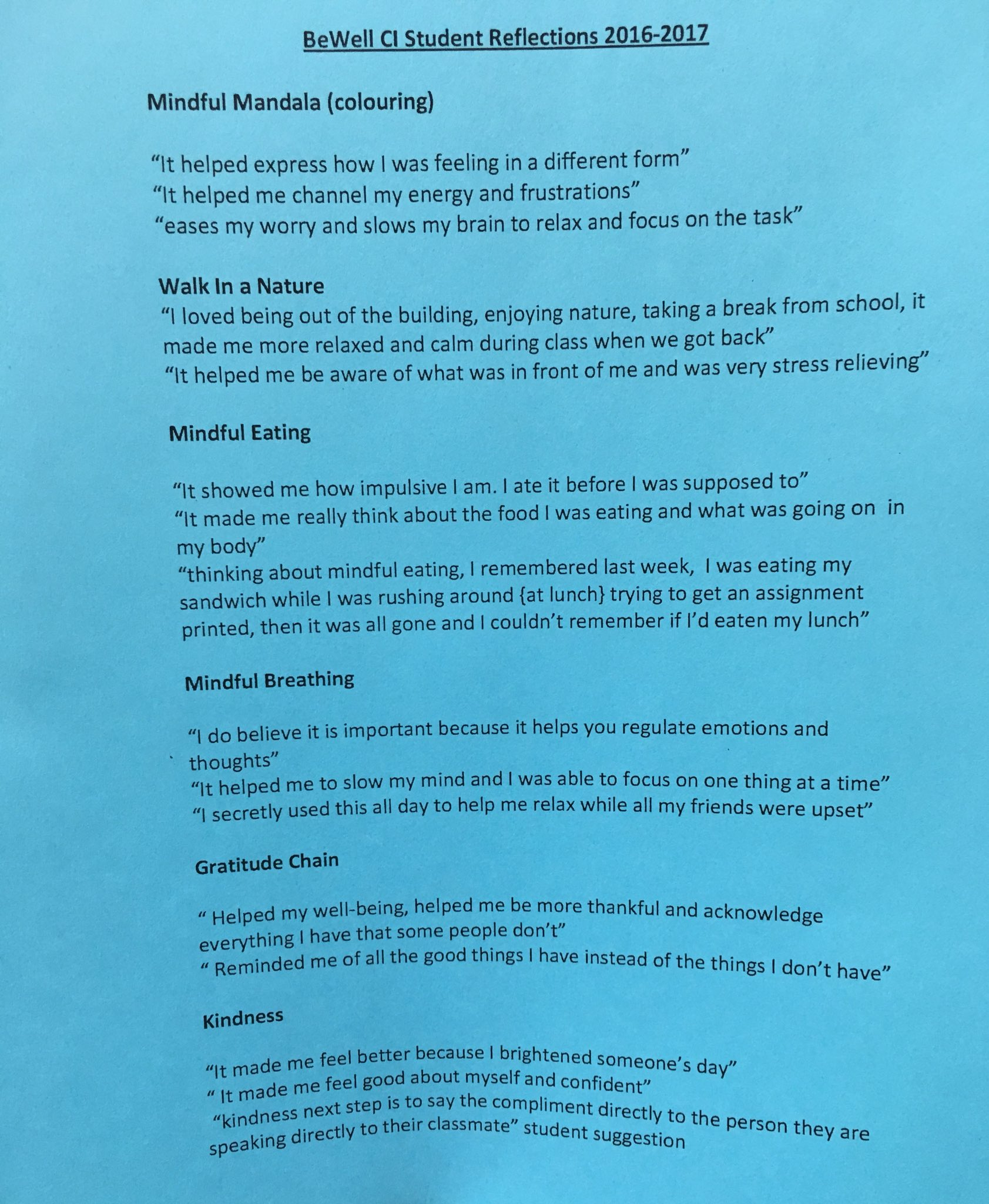 Here's what students said about Be Well & Live Fit program - making a huge difference in #mentalwellness Follow @121coachFSSLDSB for more https://t.co/eeWyoTSTnu