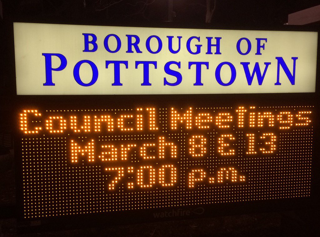 It's @pottstownboro council time, so follow along for your monthly municipal manipulations. https://t.co/OrapFWHlFW