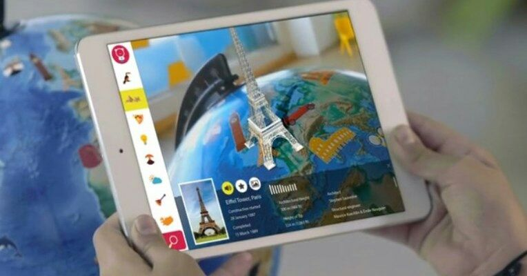 This AR-enhanced globe would be a fun addition to any iPad-equipped classroom