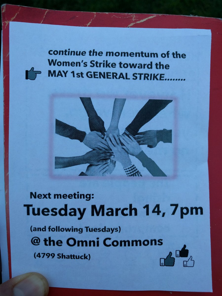 Women's Strike Planning Meeting for May 1st General Strike @ Omni Commons basement