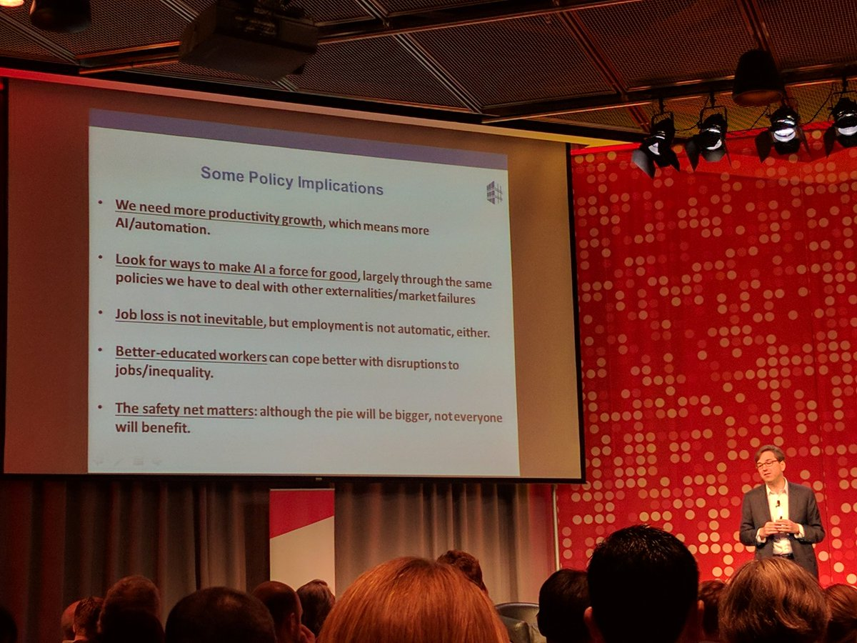 Spoke at #MITdisrupt on AI with @DrDaronAcemoglu @genebsperling @zittrain & Lisa Lynch. My policy conclusions: https://t.co/hjX7AhvwxH