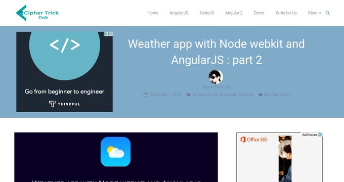 Weather app with Node webkit and AngularJS : part 2