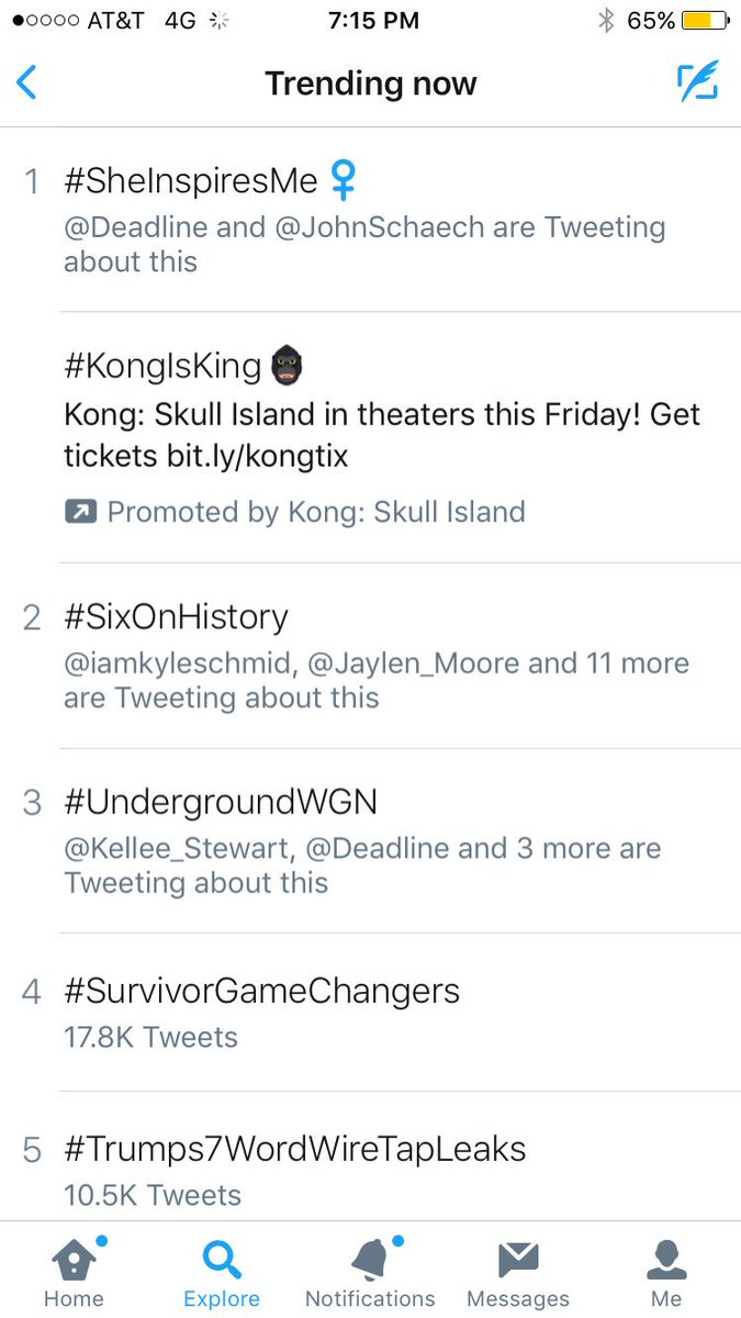 We are #2 trending #sixonhistory https://t.co/BqcHtR4Zz2
