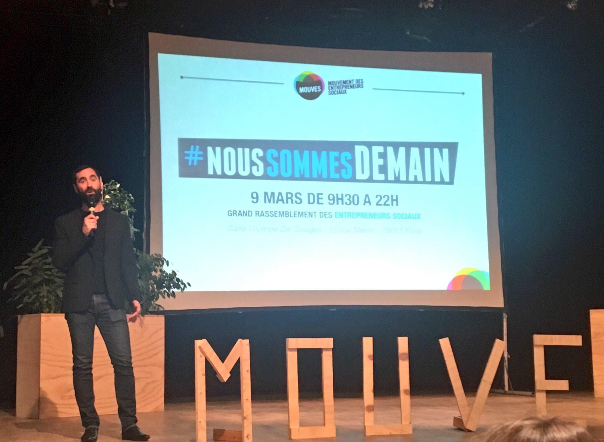 Jonathan Jérémiasz, nouveau président du @Mouves_ES  nous livre sa vision de l'entrepreneuriat social #noussommesdemain https://t.co/WJOYz6fsQq