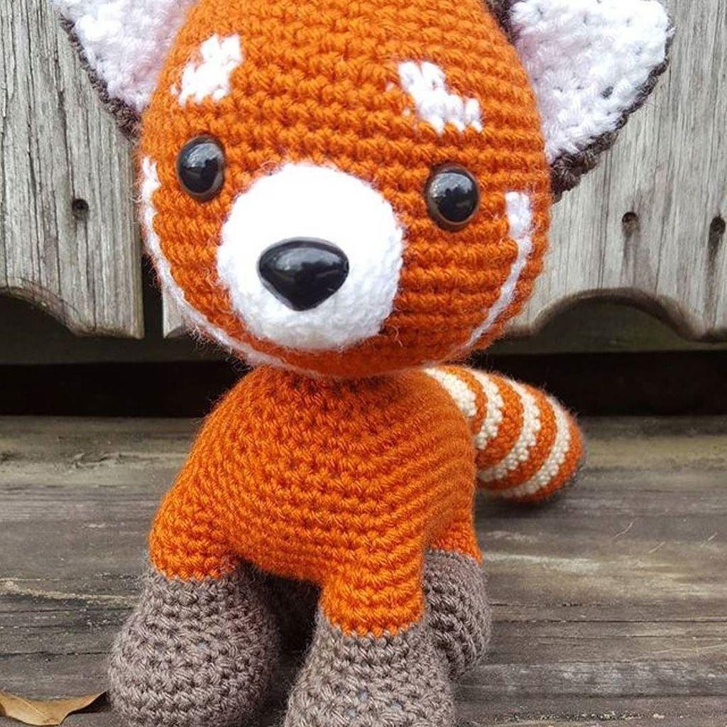 Red Panda Firefox Kleiner Panda Amigurumi Crochet Stuffed | Etsy | 1024x1024