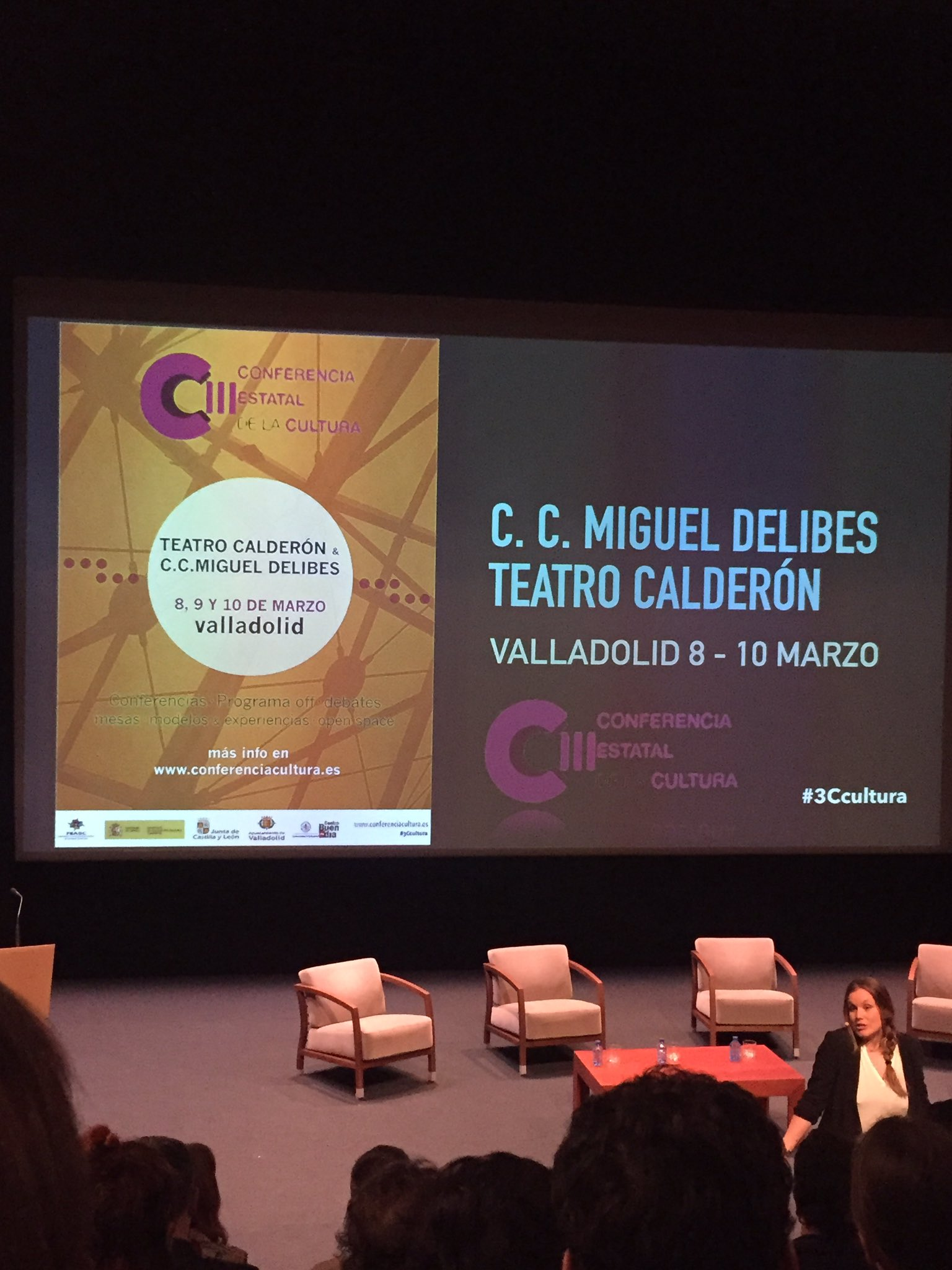 Comenzando!! @CCMDCyL @GesCulCyL III Conferencia Estatal de #Cultura #3Ccultura @anabel_sierra https://t.co/iCZkpvGqBj