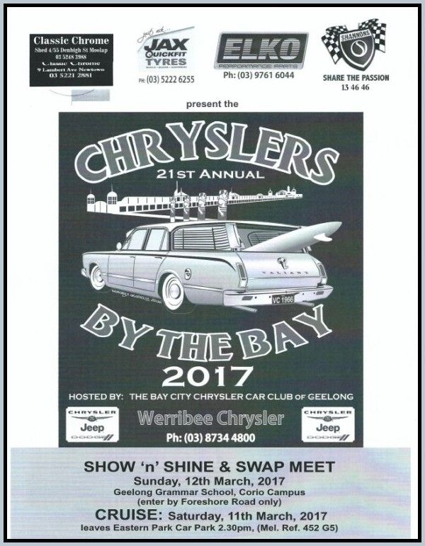 Image result for Chryslers by the bay 12 MArch 2017