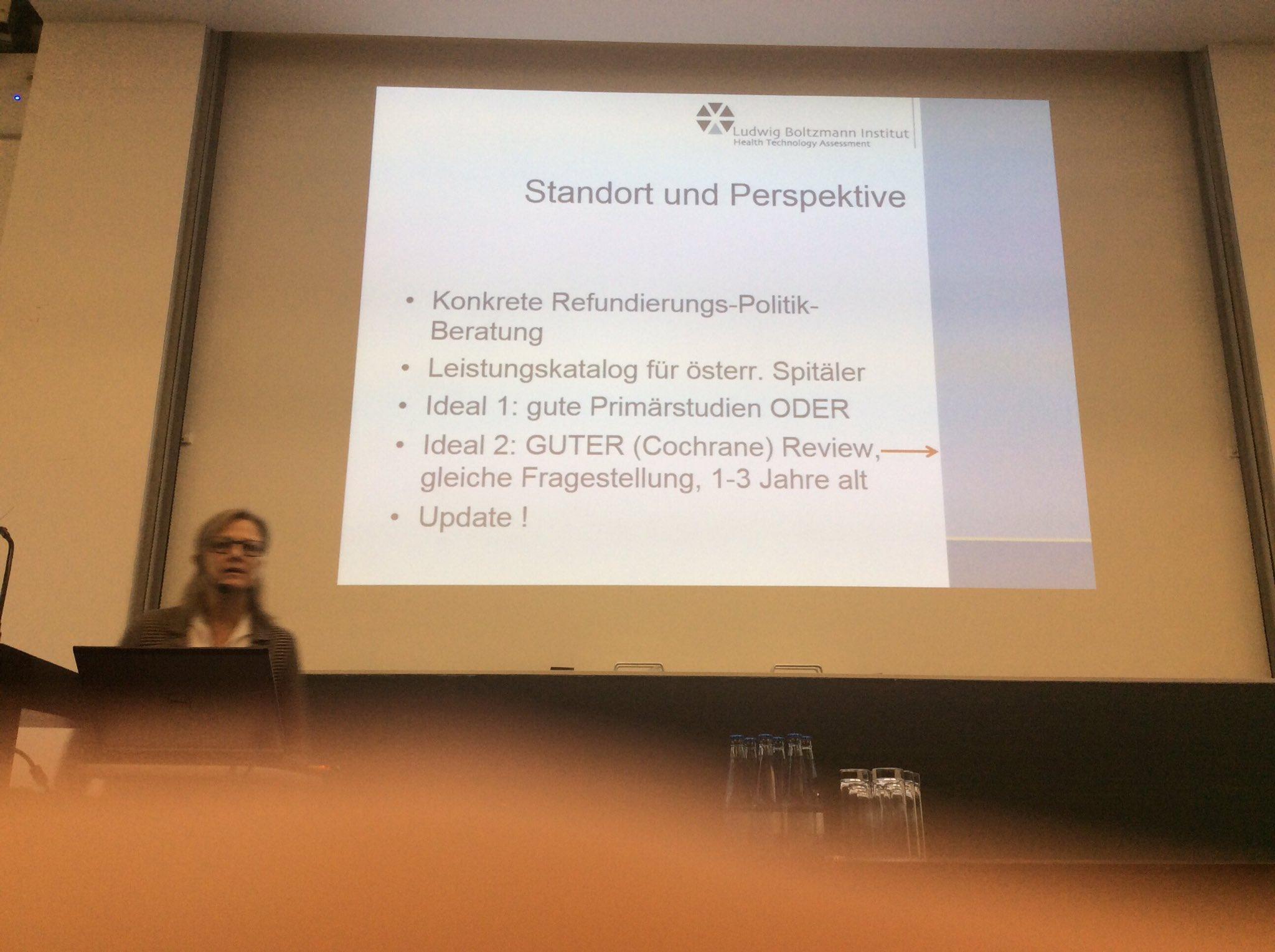 Claudia Wild beim #dnebm17 : Österreich muss beim HTA mit weniger Geld auskommen als Duetschland https://t.co/rgOPYTXI2X