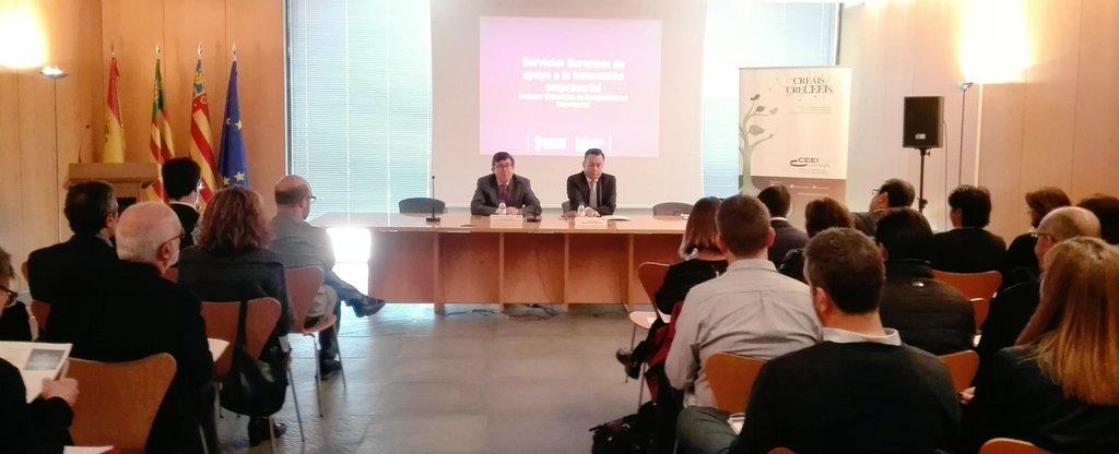 "Comenzamos en @CEEICastellon con la Jornada ""Instrumento PYME de H2020"" #innovacion #financiacion #europa #H2020 #asesoramiento https://t.co/I9HmLu6Awy"
