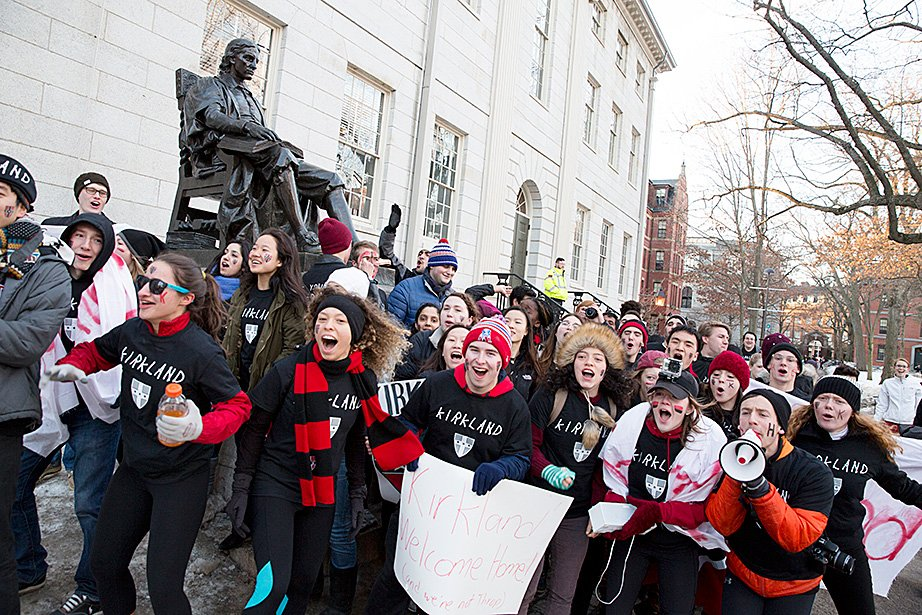 Today's the day! #Harvard2020 find out their new homes at #HousingDay2017! What do you remember about your Housing Day? #Homesweethome https://t.co/cPepQLkz0c
