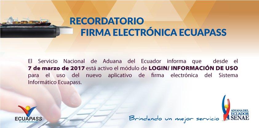 Aduana Del Ecuador On Twitter Nuevo Módulo Del Ecuapass