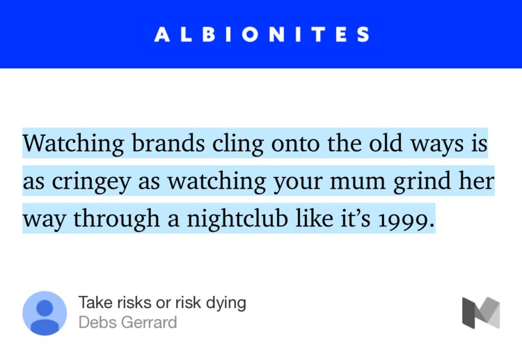 """Take risks or risk dying"" — Debs Gerrard https://t.co/qD74JbjlIa https://t.co/h0hBMu6ZmO"