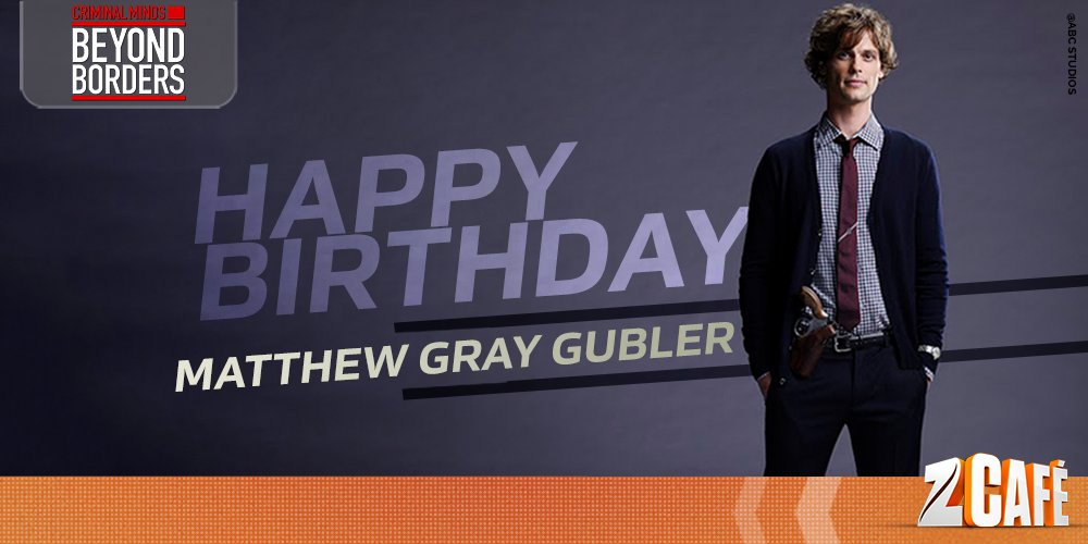 Shout-Out Criminal Matthew Gray Gubler : Shout Criminal