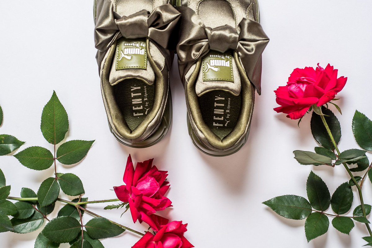 puma fenty bow sneaker rose