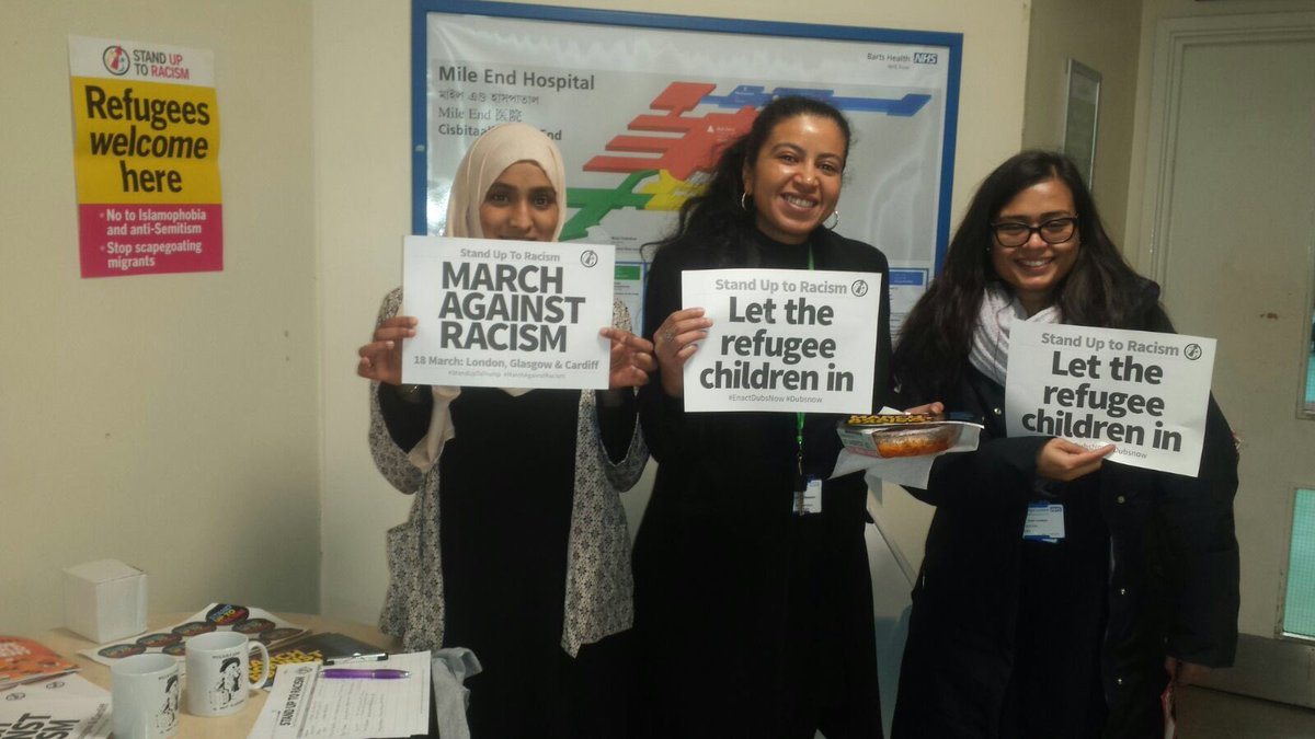 Stand Up To Racism On Twitter Nhs Workers At Mile End Hospital
