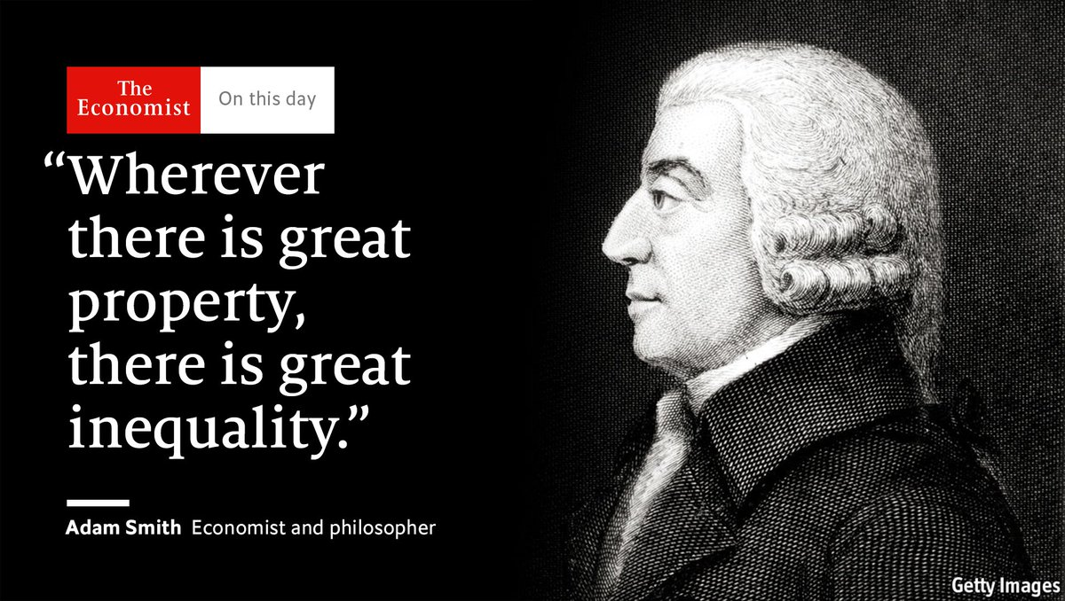 """""""The Wealth of Nations""""—Adam Smith's magnum opus—was published #OnThisDay 1776 https://t.co/U2Nbz0FtnD"""