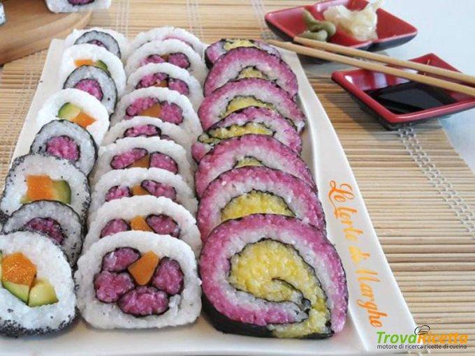 Sushi con verdure e alga novi -ricetta facile-