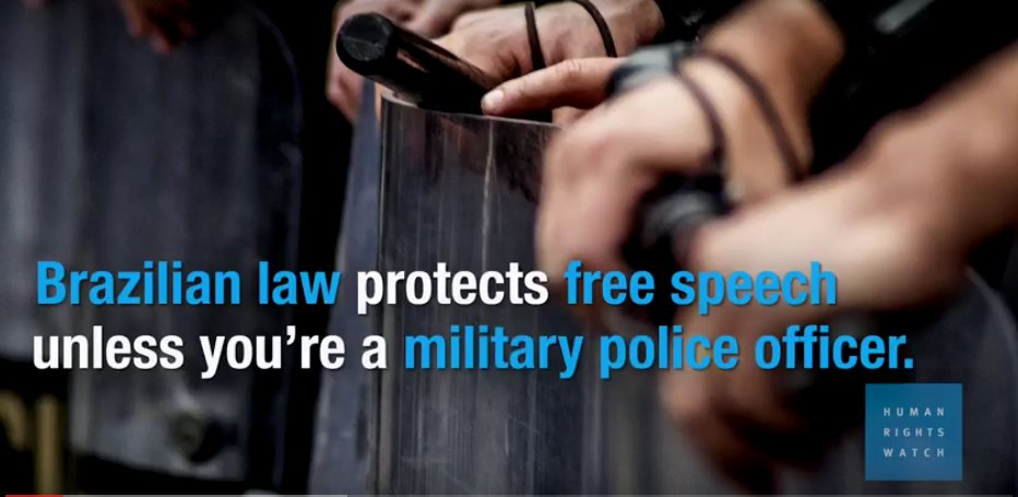 Thumbnail for Muzzling Military Police in Brazil; Arrested For Being Pregnant In The UAE: HRW Daily Brief