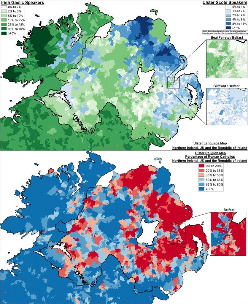Uk Language Maps On Twitter Irish Gaelic Ulster Scots Speakers