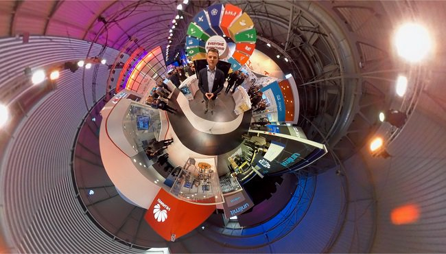 EXCLUSIVE! Take a 360/#VirtualReality tour of #MWC17 in our new video: https://t.co/LOzOGrD0Wb #GSMAInnovationCity @SashaTwining #VR #mobile