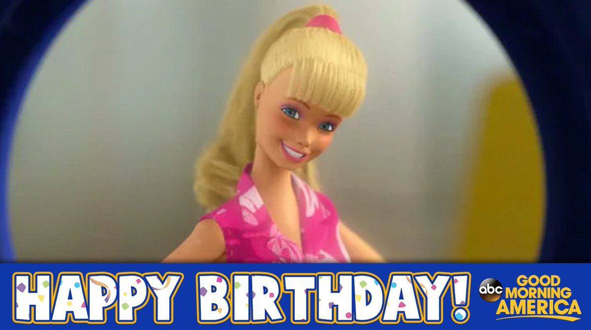 Happy Birthday Barbie It Was 58 Years Ago Today That The Barbie