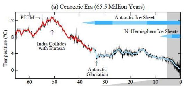 of ice age cycles & that greenhouse gas+dust changes amplified them. We have good evidence Cenozoic cooling was due to decreases in CO2…17/n https://t.co/4CoV133af3