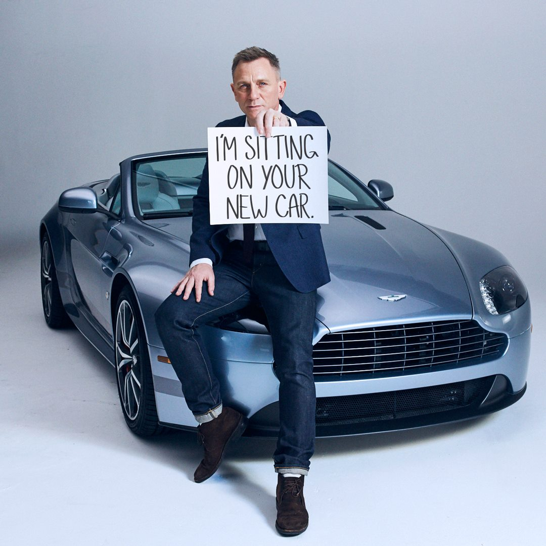 Omaze On Twitter Need A Ride Daniel Craig Is Sitting On Your