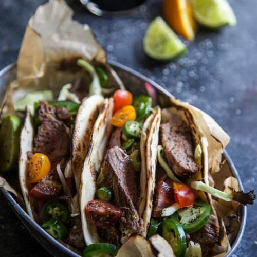 Citrus-Marinated Cuban Steak Tacos
