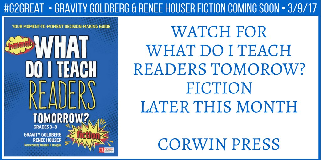 Gravity & Renee will be launching the FICTION book soon. #G2great @CorwinPress @drgravityg @ReneeDHouser https://t.co/RNoUnChD4J