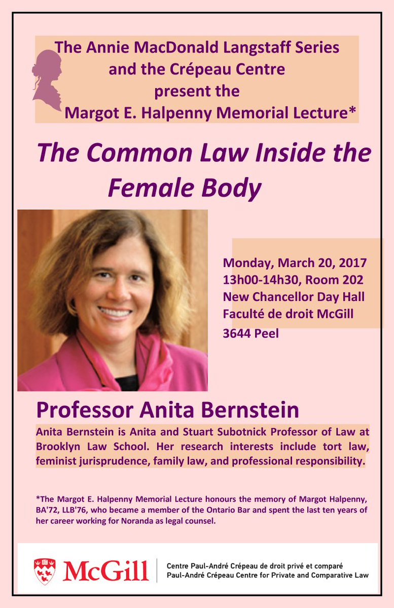 Mcgill Law On Twitter 20 Mar The Common Law Inside The Female