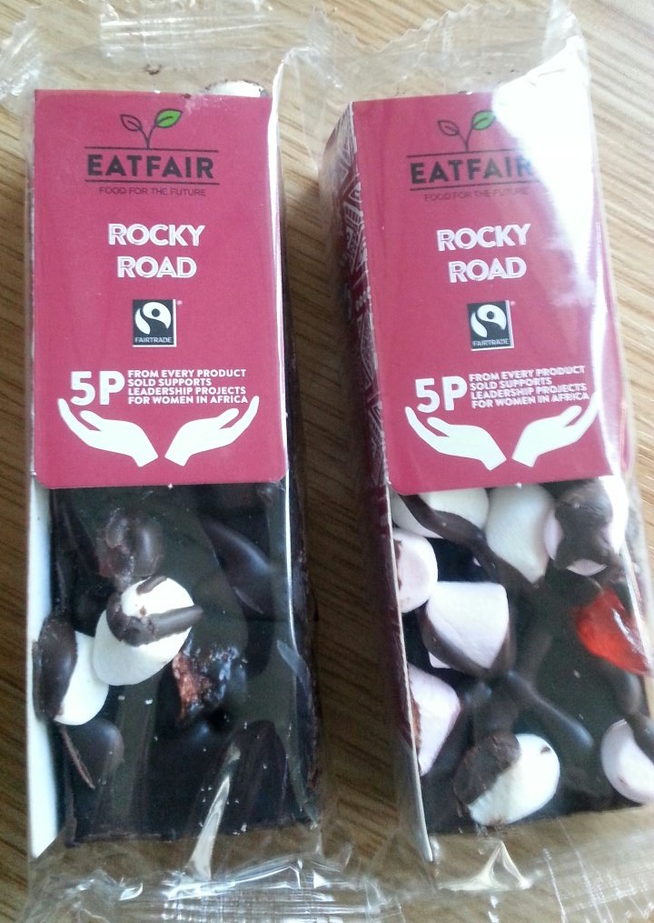 Oh yes please!!! #Fairtrade Rocky Road. Great job @EATFAIR. Putting Fairtrade in my break #DMUtweetyourbreak @FoodAtDMU https://t.co/Z7HYrvPUgf
