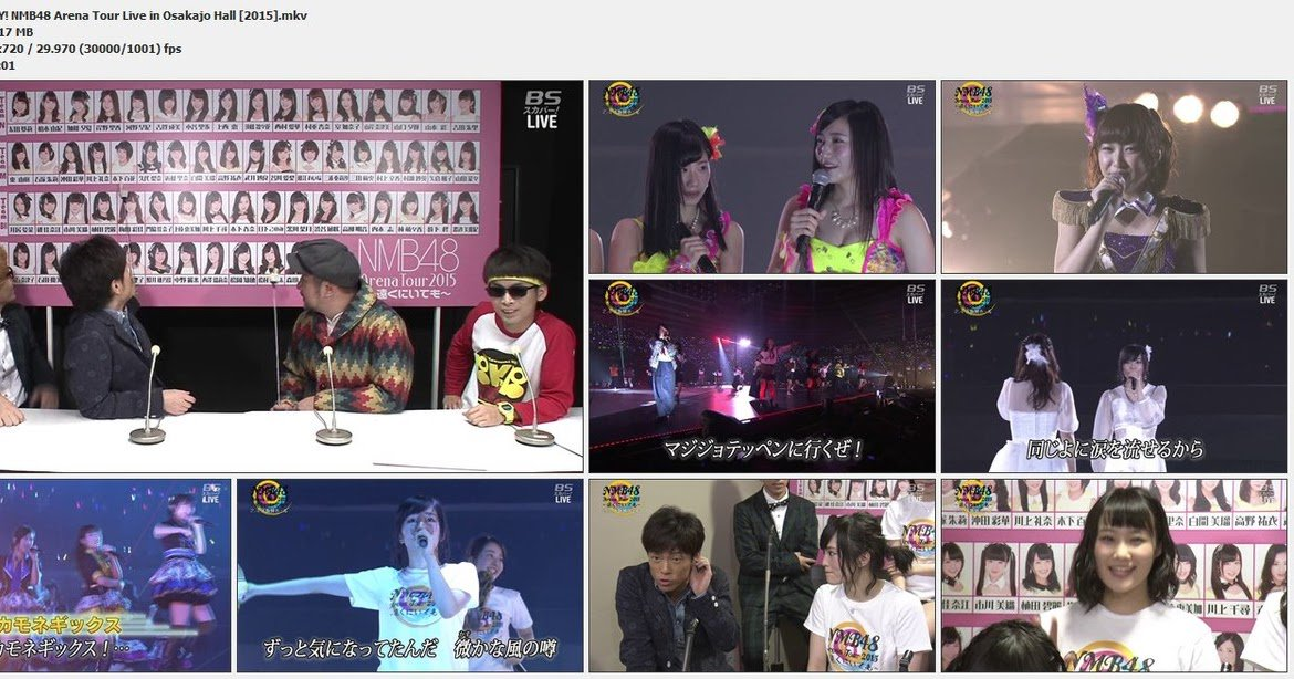 Download BS SKY! NMB48 Arena Tour Concert Live in Osakajo Hall