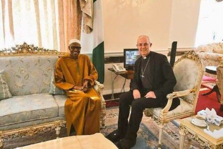 President Muhammadu Buhari has, on Thursday, received the Archbishop of Canterbury, Justin Welby in Abuja House, London.