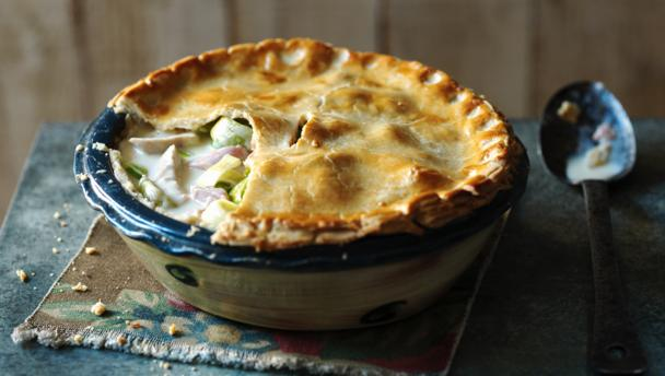 Bbc on twitter creamy chicken ham and leek pie by the bbc on twitter creamy chicken ham and leek pie by the hairybikers more recipes on bbcfood britishpieweek httpst5tdncbg3ty forumfinder Image collections