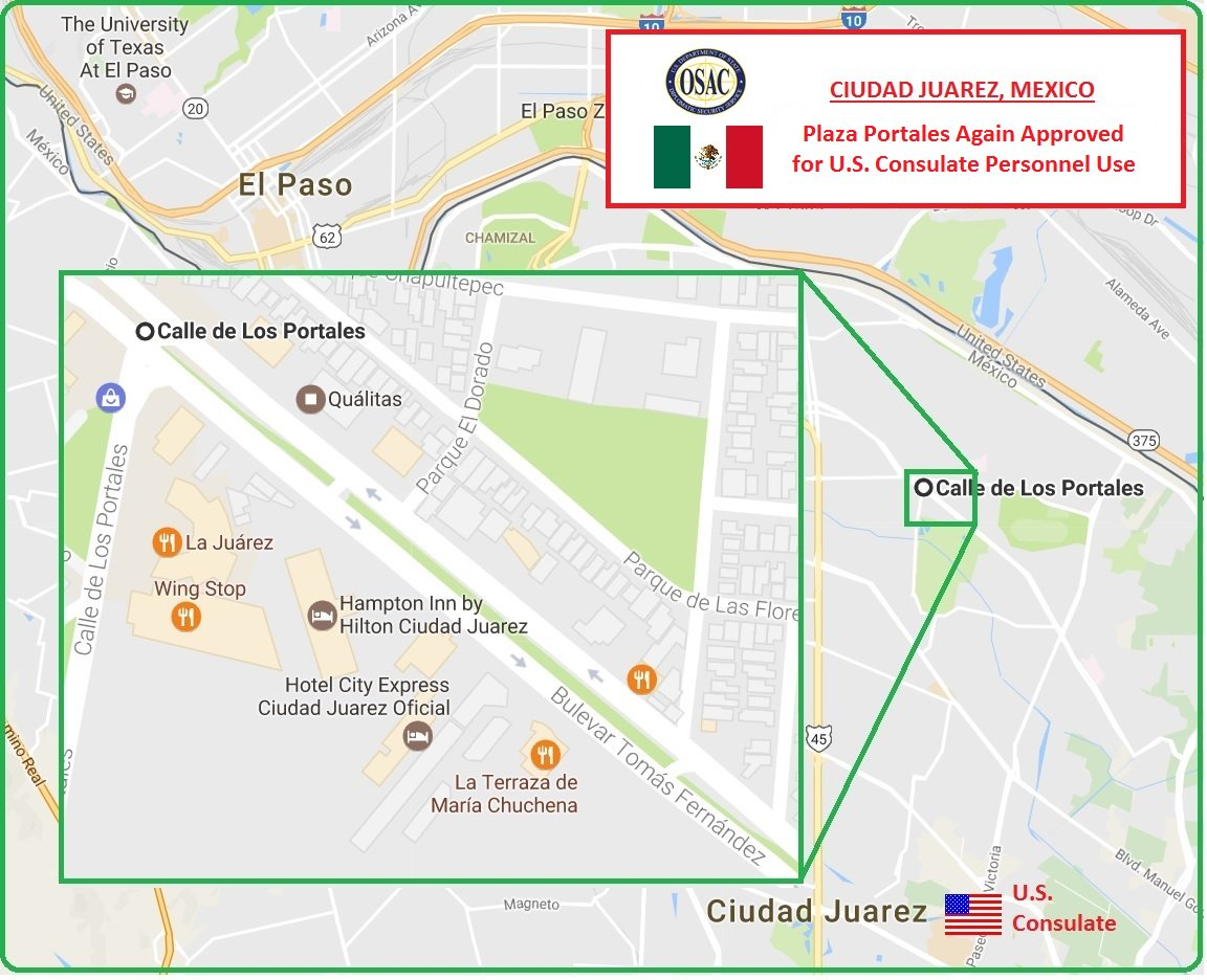 Osac On Twitter Mexico Us Consulate Ciudadjuarez Lifts - Us-consulates-in-mexico-map