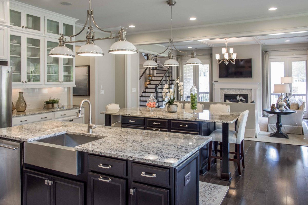 Fielding homes on twitter we love the double island for Gourmet kitchen island designs