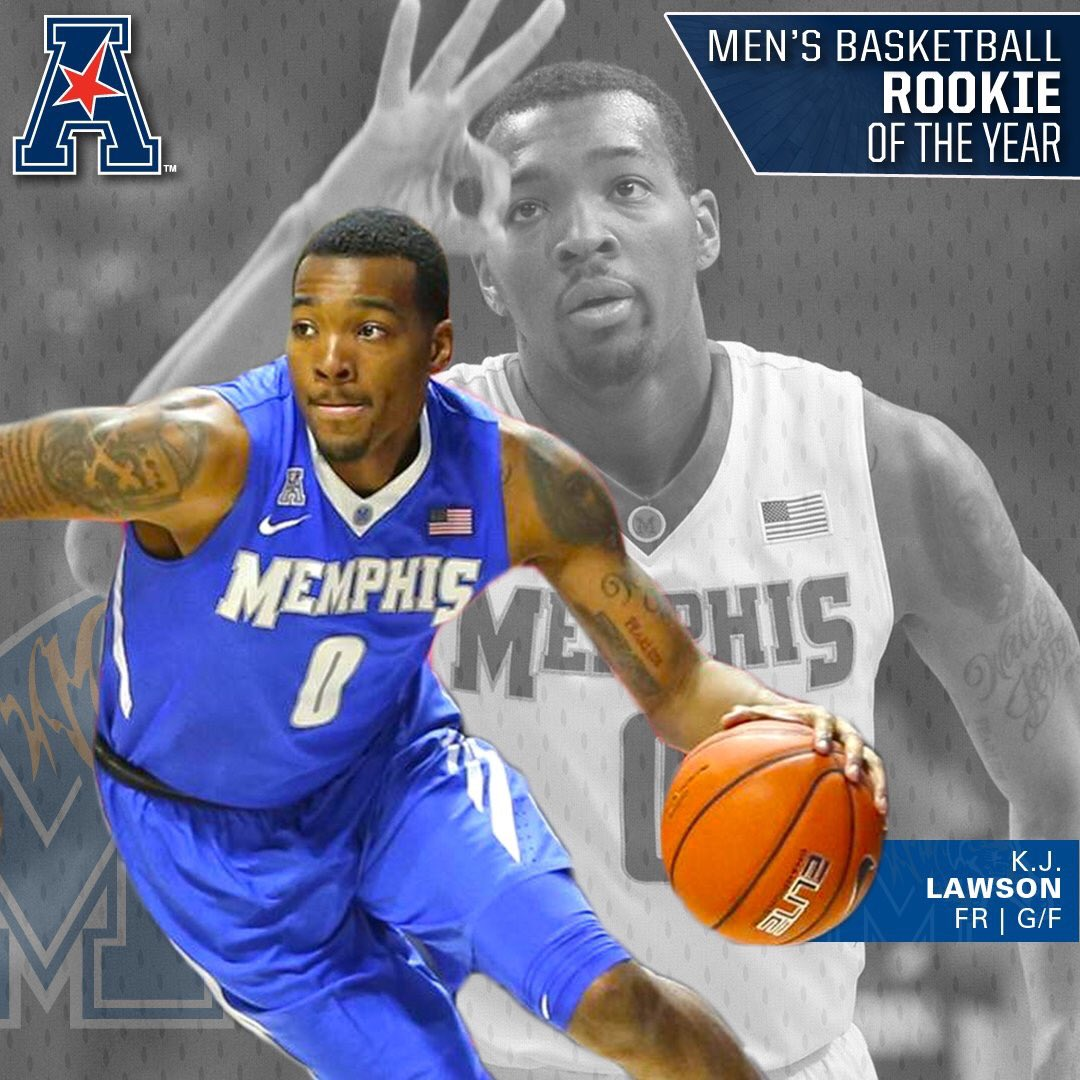 Congrats to KJ Lawson... American Athletic Conference Rookie of the Year! https://t.co/6byQvaxPGf