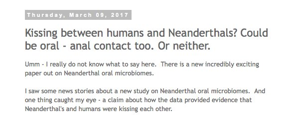 The Tree of Life: Kissing between humans and Neanderthals? Could be oral - anal contact too. Or neither. https://t.co/PDzanUINbv https://t.co/ML4Fi1dFRS